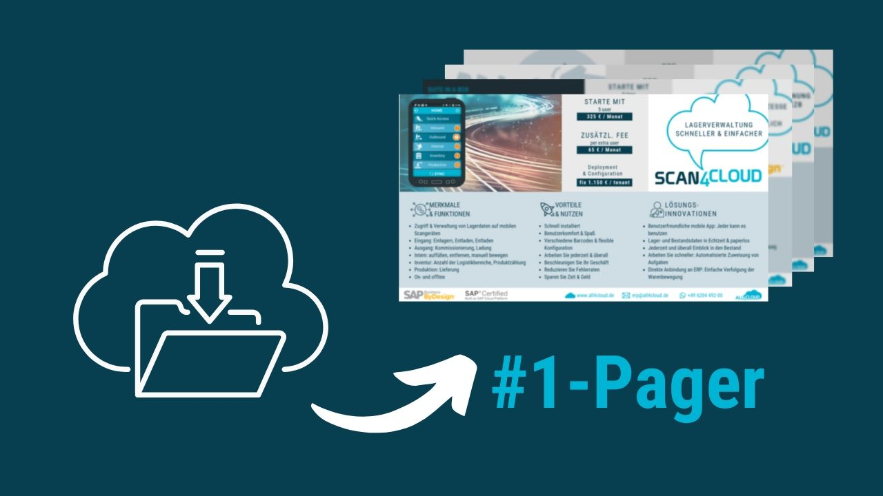 SAP CLoud ERP SAP Business ByDesign all4cloud 1 Pager Informationen How to