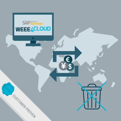 Integrierte Ermittlung und Ausgabe der WEEE*-Gebühren (*Waste Electrical and Electronic Equipment)