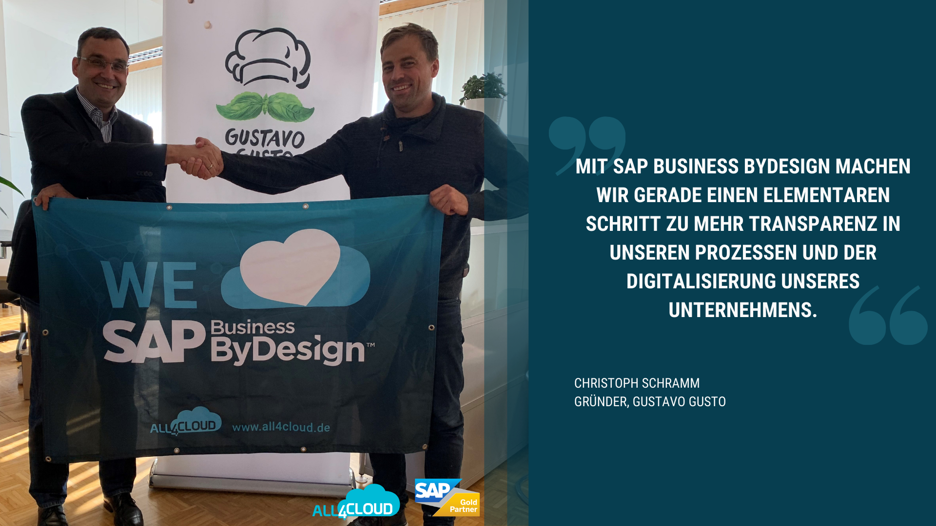 all4cloud sap business bydesign kunde gustavo gusto